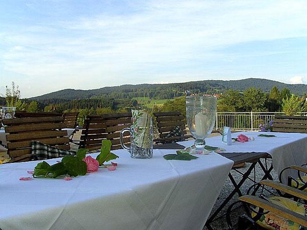 Ausblick vom Restaurant des Hotels St. Gunther