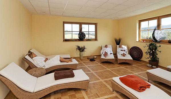 1200qm Wellness-Landschaft im Hotel St. Gunther